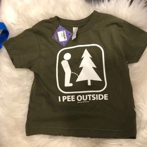 NWT I pee outside T shirt